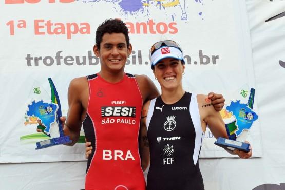 Manoel dos Santos e Carol Furriela vencem